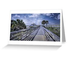 A Boardwalk at St. Andrews Greeting Card