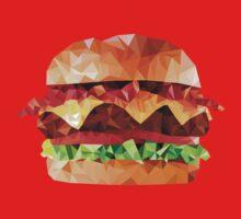 Geometric Bacon Cheeseburger Kids Clothes