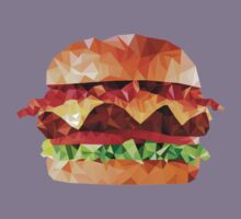 Geometric Bacon Cheeseburger Kids Clothes