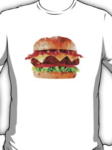 Geometric Bacon Cheeseburger T-Shirt