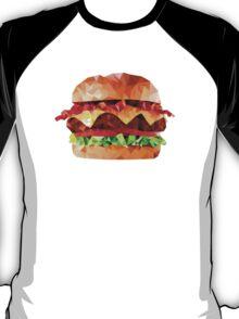 Geometric Bacon Cheeseburger T-Shirt