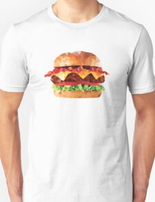 Geometric Bacon Cheeseburger Unisex T-Shirt