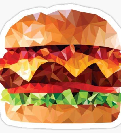Geometric Bacon Cheeseburger Sticker