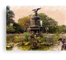 Bethesda Fountain Canvas Print