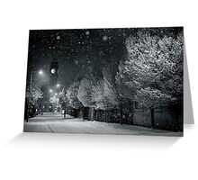 Evening Snow,  Rathmines - Dublin - Ireland. Greeting Card