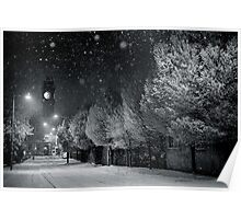 Evening Snow,  Rathmines - Dublin - Ireland. Poster