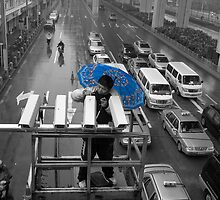 The blue umbrella by Geoff46