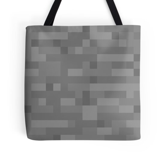 Minecraft Stone Block : Quot minecraft stone block tote bags by alekswinter redbubble