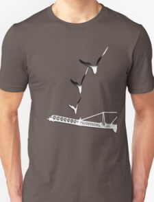 Construction Cranes Industry and art T-Shirt