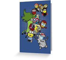 Minions Assemble Age of Mintron Greeting Card