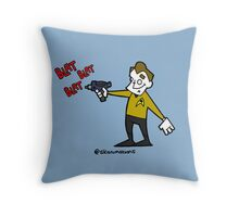 set phasers to gangsta  Throw Pillow