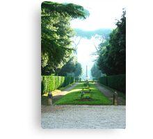 Foggy Garden/Rome, Italy Canvas Print