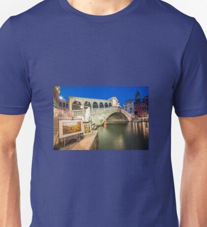 Rialto Bridge Twylight  Unisex T-Shirt