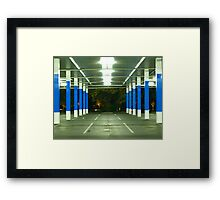 blue poles # 1 Framed Print