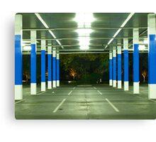 blue poles # 1 Canvas Print