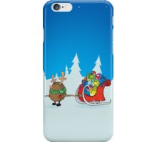 rudolph the red nosed hedgehog iPhone Case/Skin
