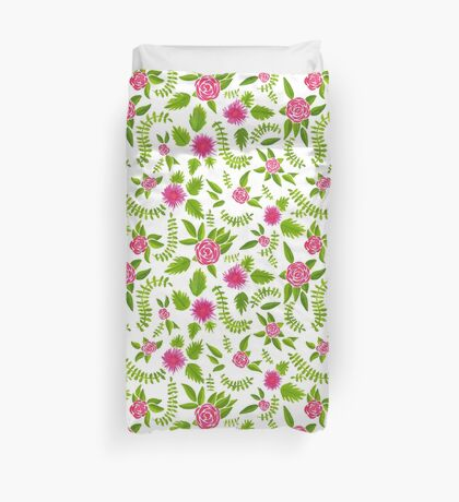 Watercolor roses no. 1 pattern Duvet Cover