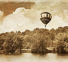 Hot Air Balloon In Sepia by BrookeRyanPhoto