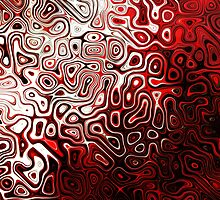 Protoplasm abstract digital design Red Black White by 7RayedDesigns