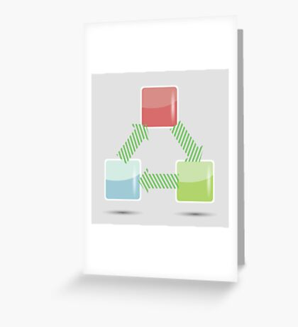 info graphic elements Greeting Card