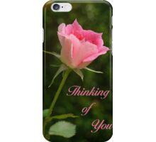 Pink Bud Rose iPhone Case/Skin