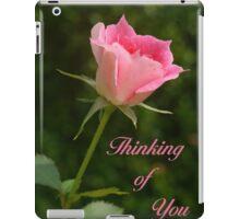 Pink Bud Rose iPad Case/Skin
