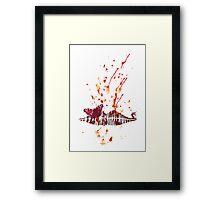 Bloody Lips Framed Print