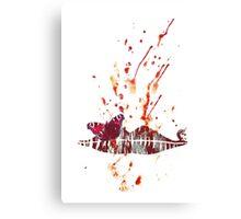 Bloody Lips Canvas Print