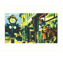 Armbruster Clock & Storefront - Cedarburg WI (bold) Art Print