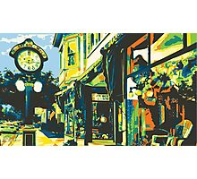 Armbruster Clock & Storefront - Cedarburg WI (bold) Photographic Print