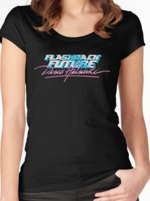 Flashback Future - Blood+Chrome / Lazerhorse SURF'S UP Women's Fitted Scoop T-Shirt