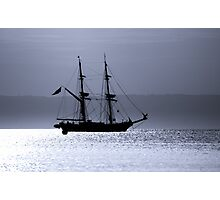 Tall Ship Royalist Mono Photographic Print