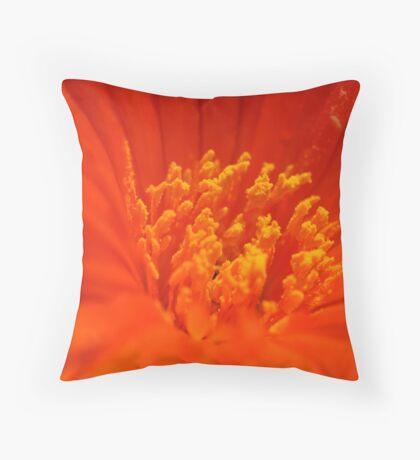 Flaming Nectar Throw Pillow