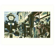 Armbruster Clock & Storefront - Cedarburg WI (muted) Art Print