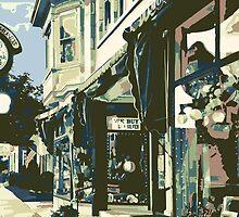 Armbruster Clock & Storefront - Cedarburg WI (muted) by katherinepaulin