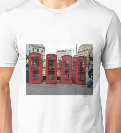 London Phone Booths  Unisex T-Shirt