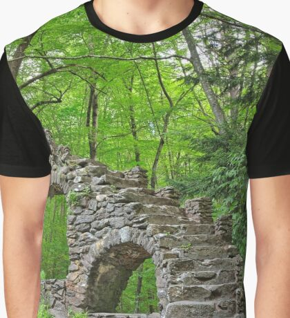 Forest Castle Ruins Graphic T-Shirt