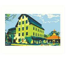 Woolen Mill & Pagoda - Cedarburg WI (bold) Art Print