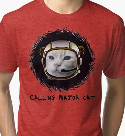 Calling Major Cat Tri-blend T-Shirt