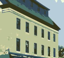 Woolen Mill & Pagoda - Cedarburg WI (muted) Sticker