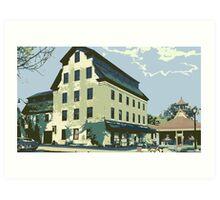 Woolen Mill & Pagoda - Cedarburg WI (muted) Art Print