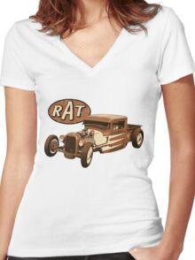 RAT - Racer Women's Fitted V-Neck T-Shirt
