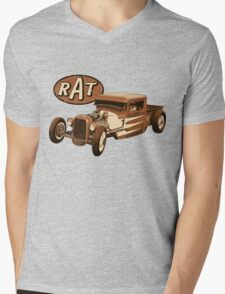 RAT - Racer Mens V-Neck T-Shirt