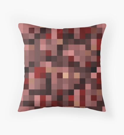 Minecraft Netherrack Block Throw Pillow
