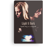 "Once Upon a Time - Swan Queen ""Light & Dark"" Metal Print"