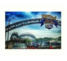 Gameday at Miller Park Art Print