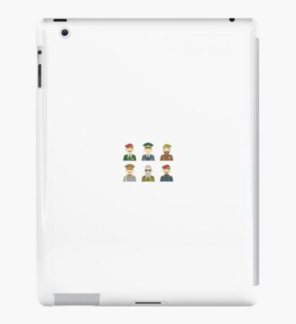 6 Generals Cartoon iPad Case/Skin