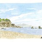 NorCal Coast Watercolor by Dave Texidor