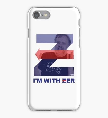 ZIZEK I'M WITH ZER (HILLARY CLINTON I'M WITH HER PARODY) PCM MEMES iPhone Case/Skin