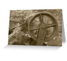 Old Wheel Greeting Card